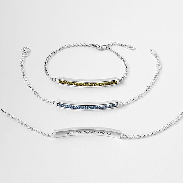 Channel Birthstone Bracelet