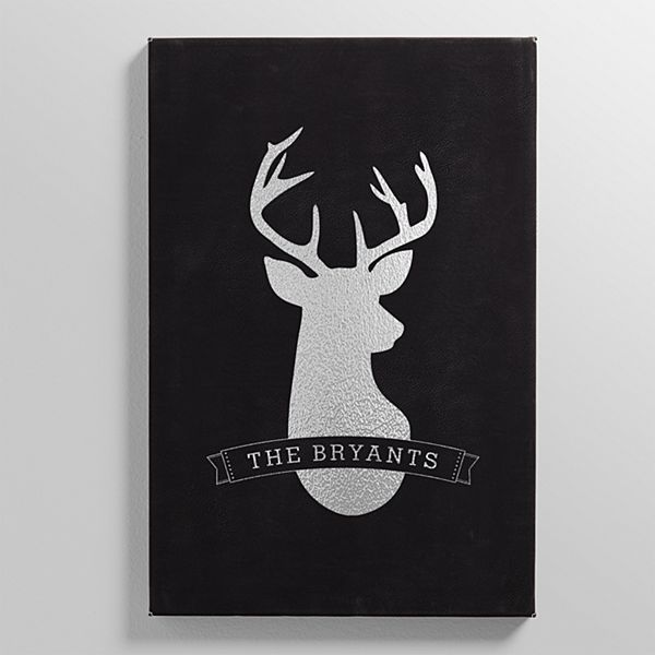 Deer Silhouette Leather Wall Art