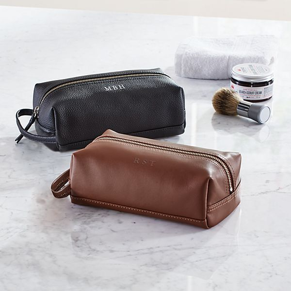 Executive Leather Toiletry Bag