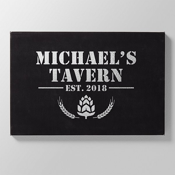 Tavern Established Leather Wall Art