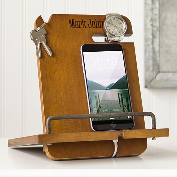 Men's Wood Docking Station