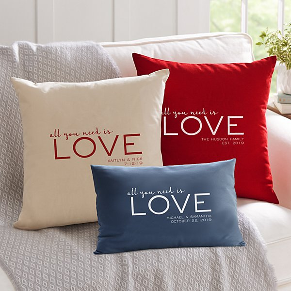 Love Is All You Need Throw Pillow