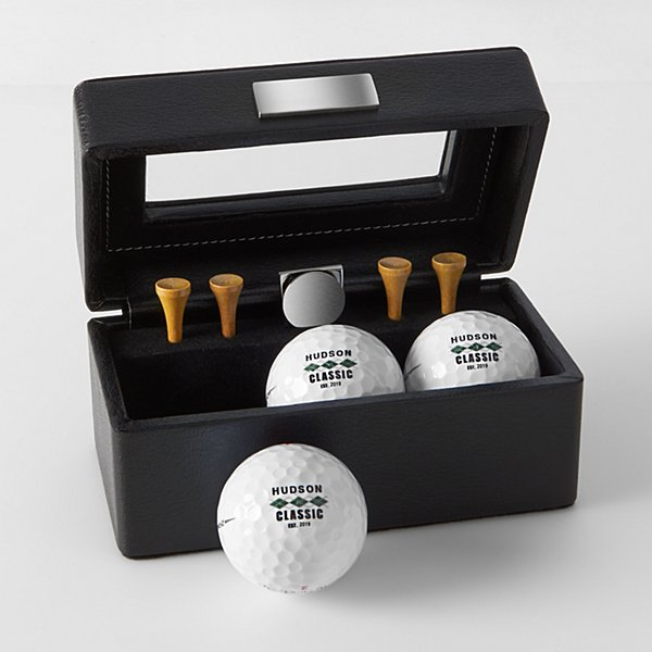 10 Piece Leather Golf Travel Set