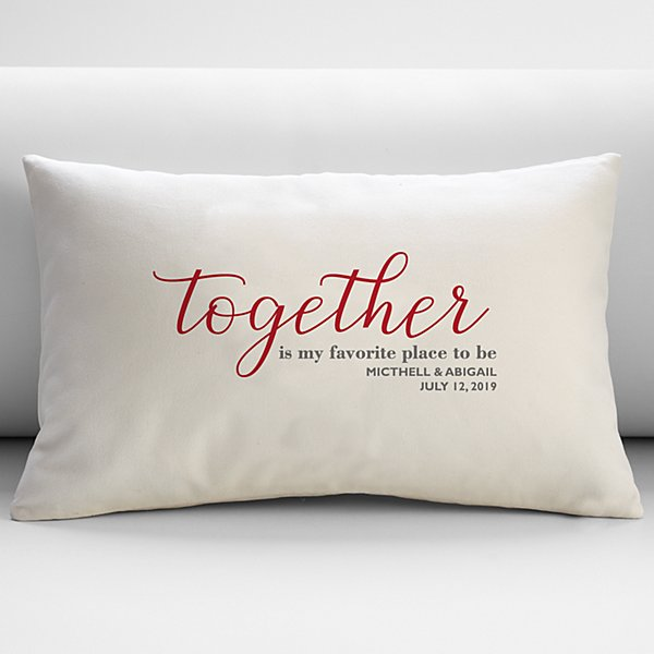 Our Favorite Place to Be Throw Pillow