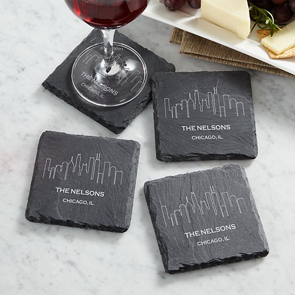 Our Home Skyline Slate Coasters