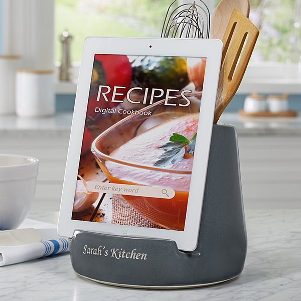 Ceramic Utensil Holder + Tablet Stand