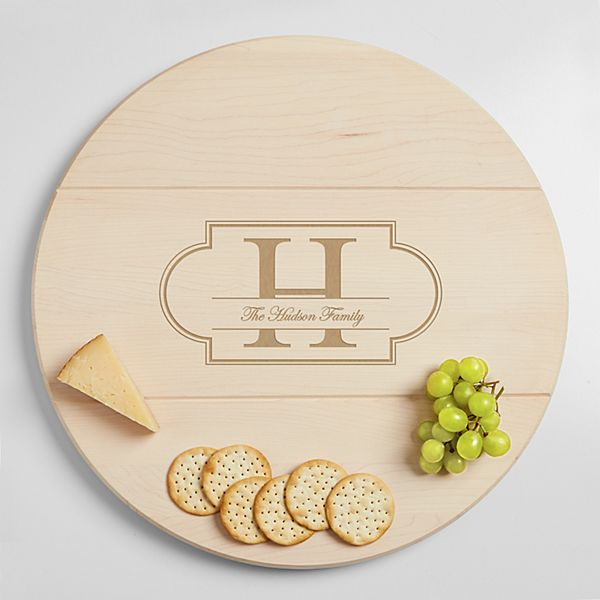 Family Name + Monogram Lazy Susan