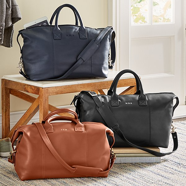 Leather Euro Weekender Bag