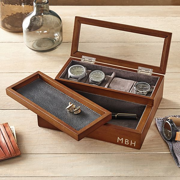 Personalized Convertible Watch Case + Valet