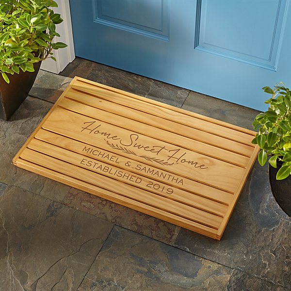 Home Sweet Home Wooden Doormat