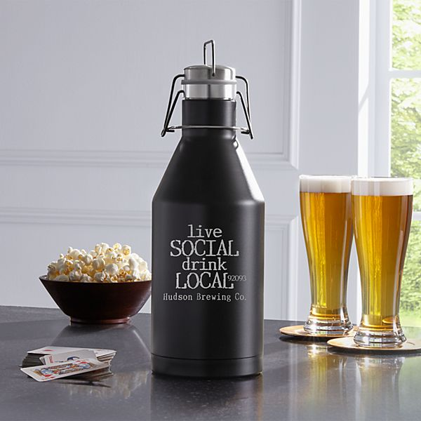 Live Social Stainless Steel Growler