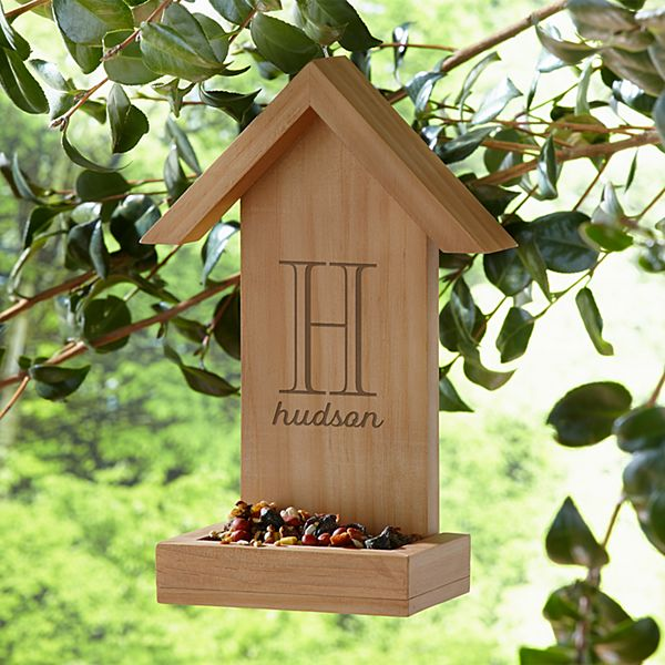 Personalized Wooden Bird Feeder