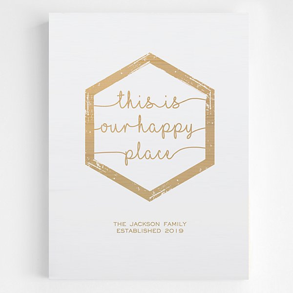 Our Happy Place Wooden Wall Art