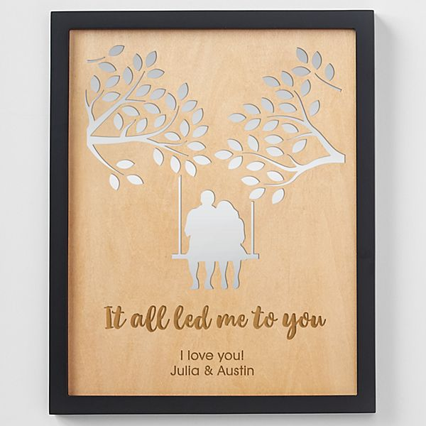 Led Me to You Engraved Wood Framed Art