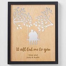 Led Me to You Engraved Wood Framed Art