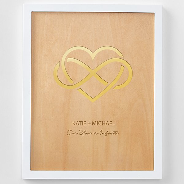 Our Love is Infinite Engraved Wood Framed Art