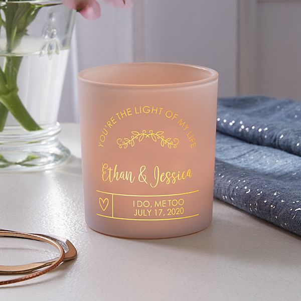 Our Love Shines Bright Personalized Candle