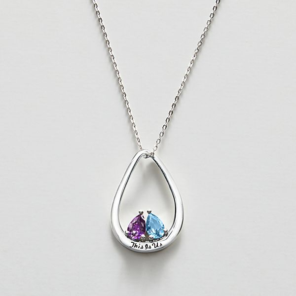 This Is Us Couple's Birthstone Pendant