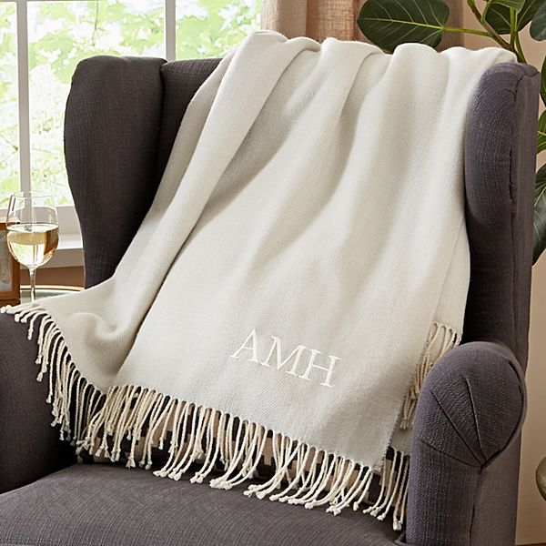 Lightweight Embroidered Throw