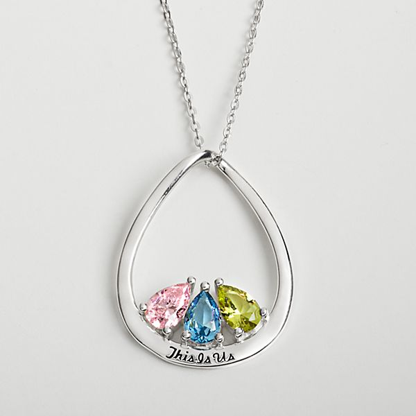This is Us Family Birthstone Necklace