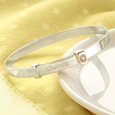 Silver Keepsake Baby Bangle