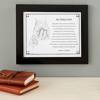 My Daddy's Hand Keepsake Framed Print