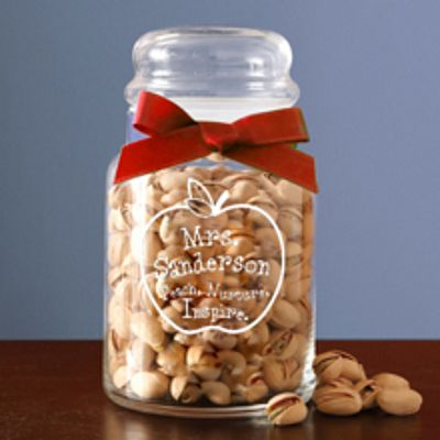 Teacher Apple Candy Jar