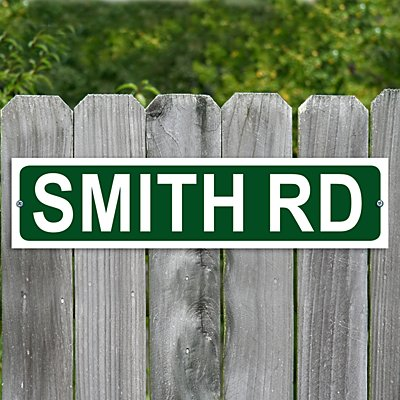 Personalised Street Metal Sign