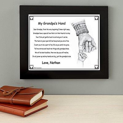 My Grandpa's Hand Keepsake Framed Print - 16x13