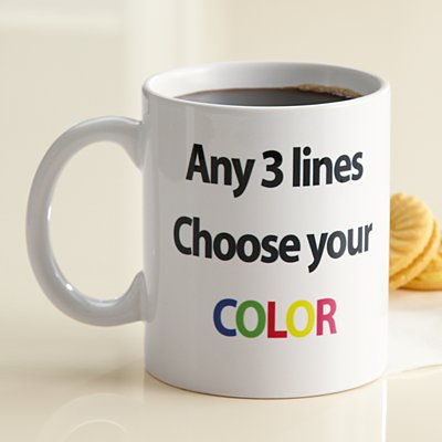 Any 3 Lines 15oz Mug