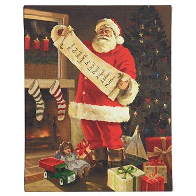 Unframed Santa's List Canvas - 11x14