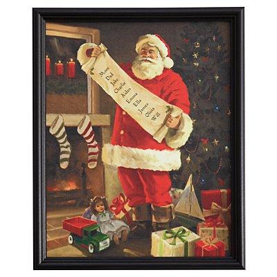 Framed Santa's List Canvas - 11x14