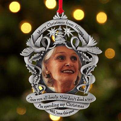 Merry Christmas From Heaven Frame Bauble
