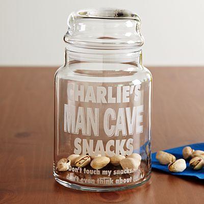 Man Cave Snack Jar