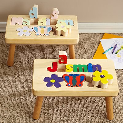 Flower Puzzle Step Stool