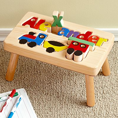 Train Puzzle Step Stool