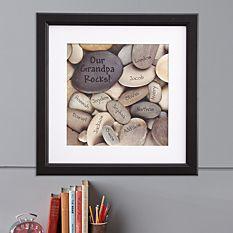 Rocks Square Framed Print