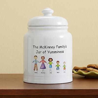 Friendly Family Characters Treat Jar