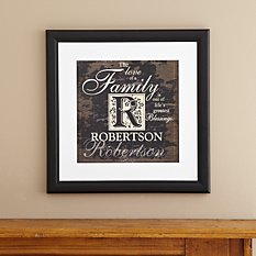Family Initial Square Framed Print