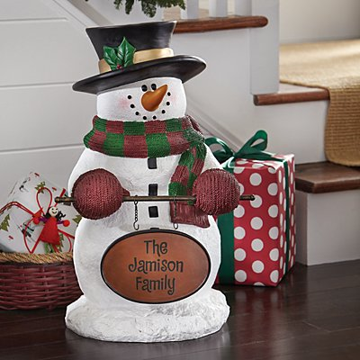 Snowman Welcome Statue