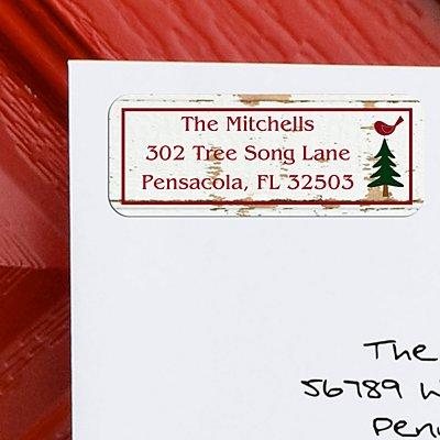 Seasons Greetings Christmas Address Labels - Set of 150