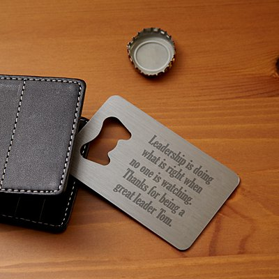 Executive Message Wallet Bottle Opener