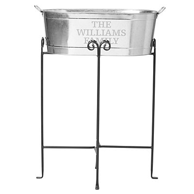 Entertainment Beverage Tub-Family Name w/Stand