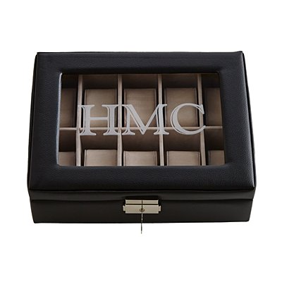 Leather Watch Box-Black