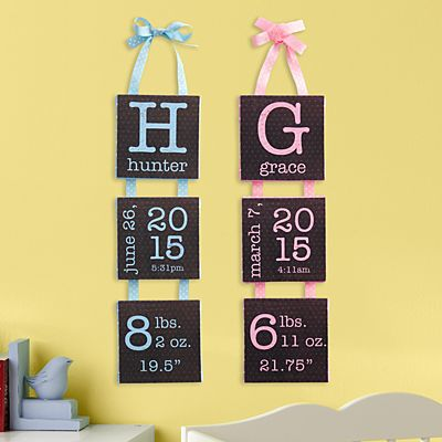 Birth Info Hanging Mini Canvas