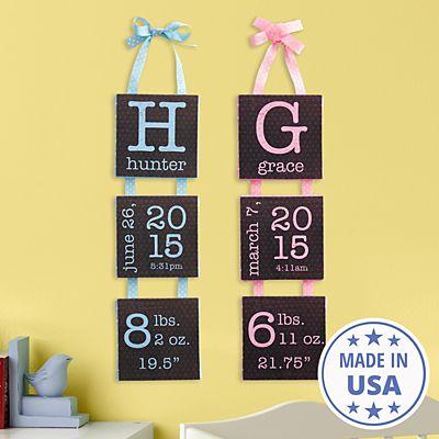 Birth Info Hanging Mini Canvas