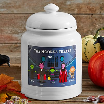 Spooky Family Cookie Jar