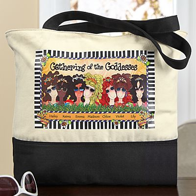 Gathering of the Goddesses Tote Bag by Suzy Toronto