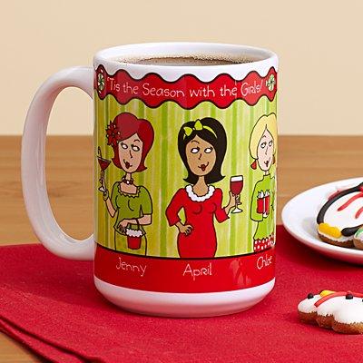 'Tis The Season With The Girls Mug