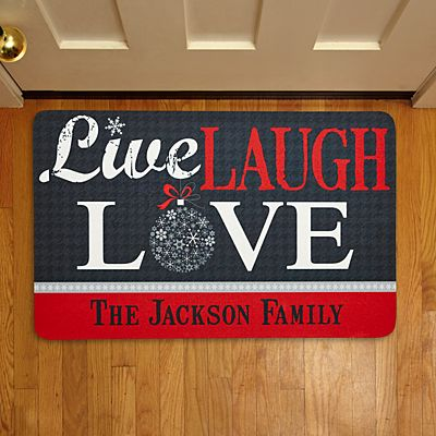 Live, Laugh, Love Holiday Doormat